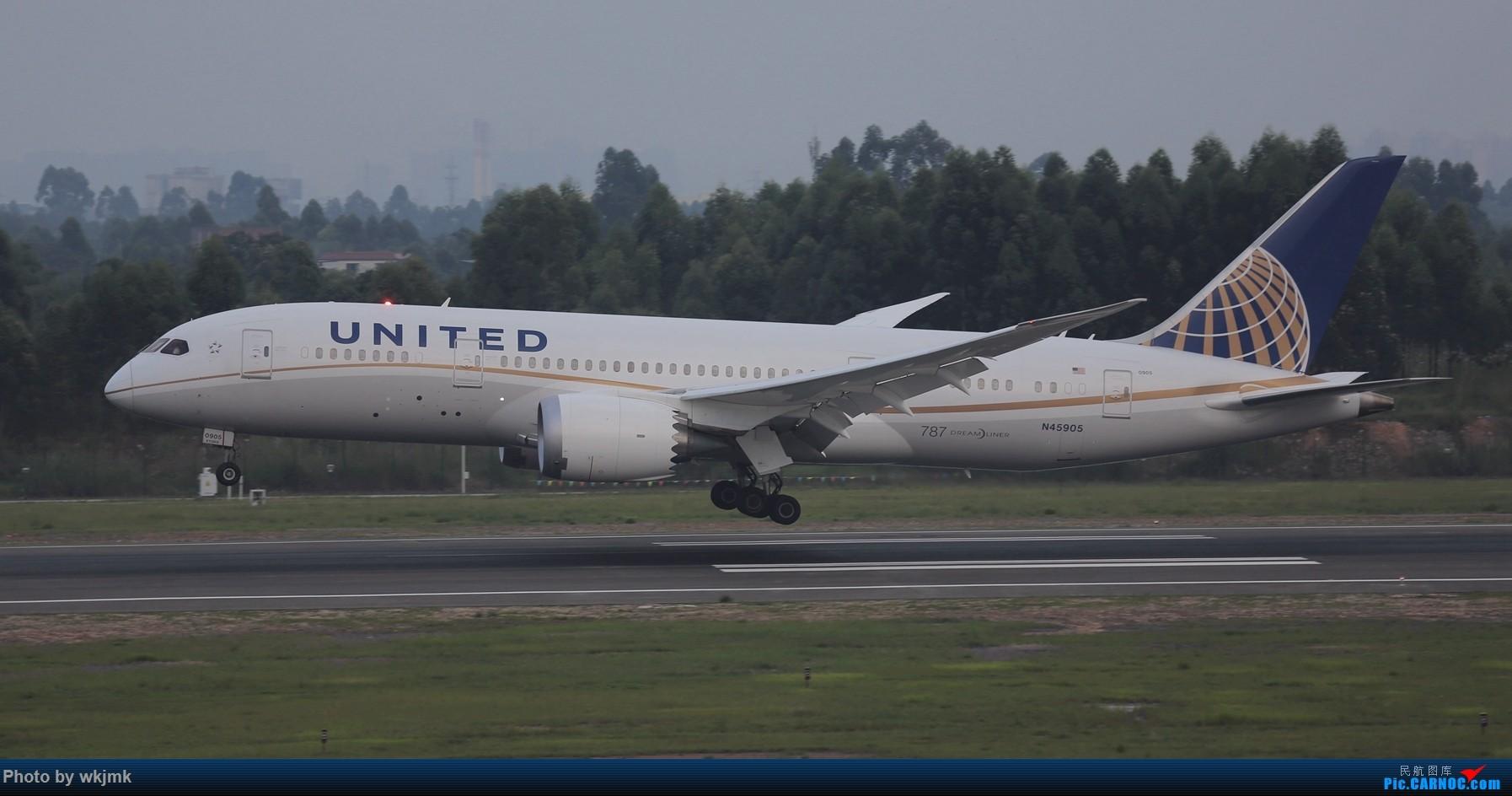 Re:[原创]西宁,成都,重庆三地拍机 BOEING 787-8 N45905 中国成都双流国际机场