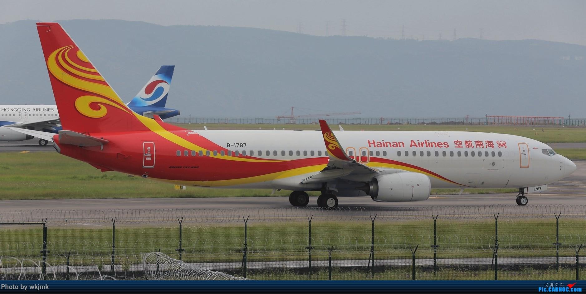 Re:[原创]西宁,成都,重庆三地拍机 BOEING 737-800 B-1787 中国重庆江北国际机场
