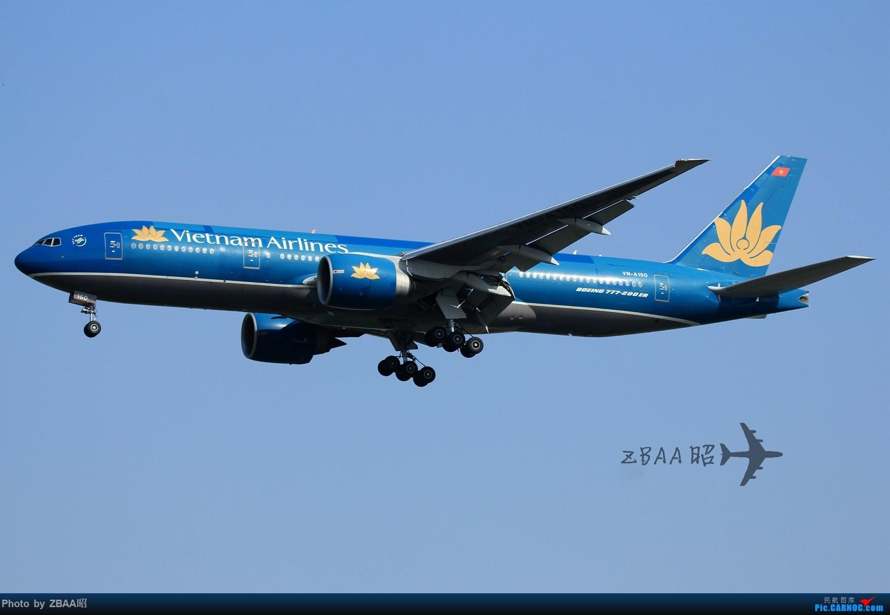 Re:[原创]今日ZBAA 36R跑道接连三枚好货:南航天合 越南772 美联772星星 BOEING 777-200 VN-A150 中国北京首都国际机场
