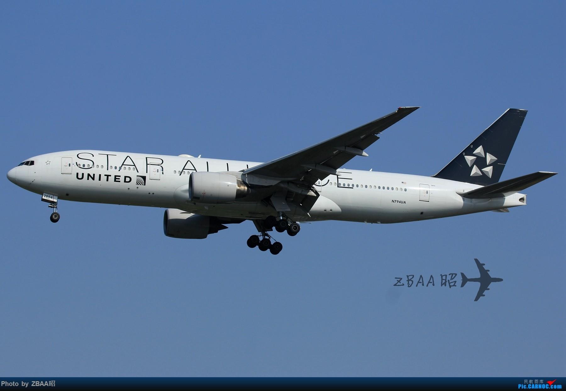 Re:[原创]今日ZBAA 36R跑道接连三枚好货:南航天合 越南772 美联772星星 BOEING 777-200ER N794UA 中国北京首都国际机场