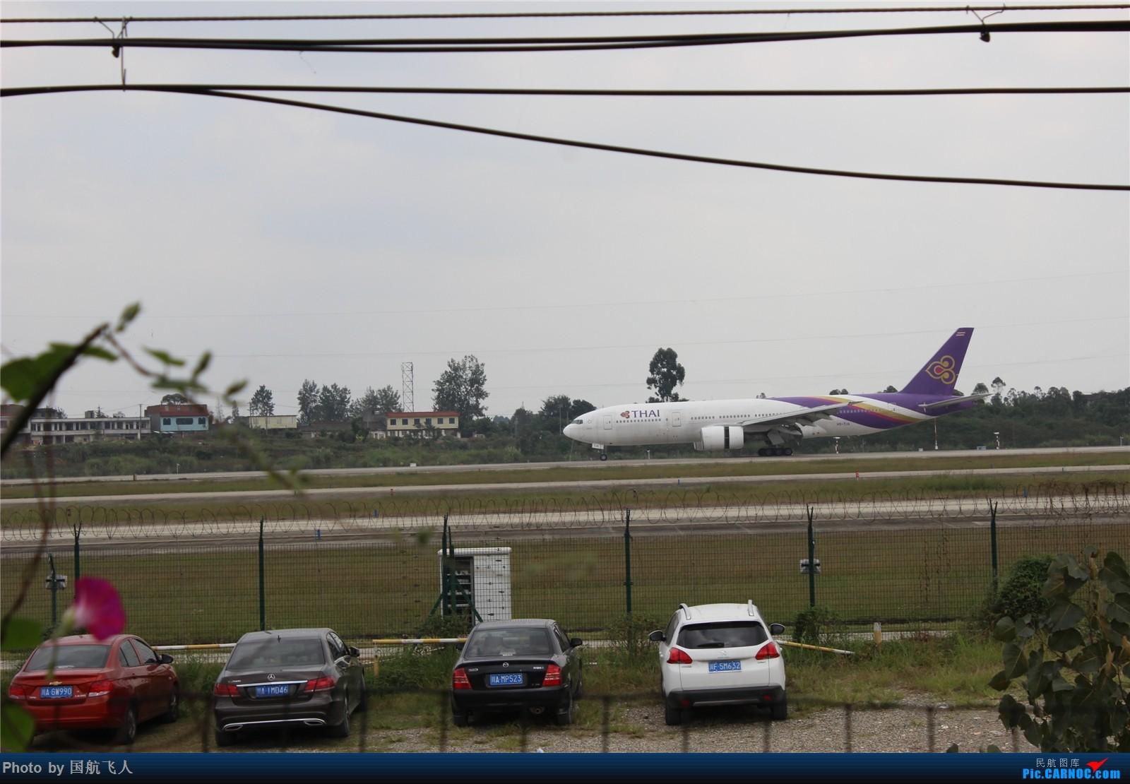 Re:[原创]专辑【2】:10月4日拍的重型机 BOEING 777-200LR HS-TJA 中国重庆江北国际机场