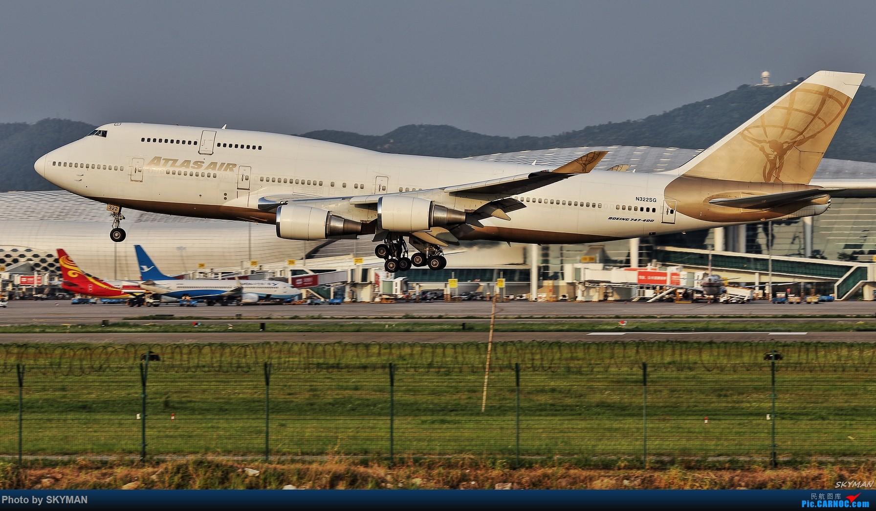Re:[原创]BLDDQ 关键词:深圳机场 亚特拉斯航空包机 NBA中国 747-400 BOEING 747-400 N322SG 中国深圳宝安国际机场
