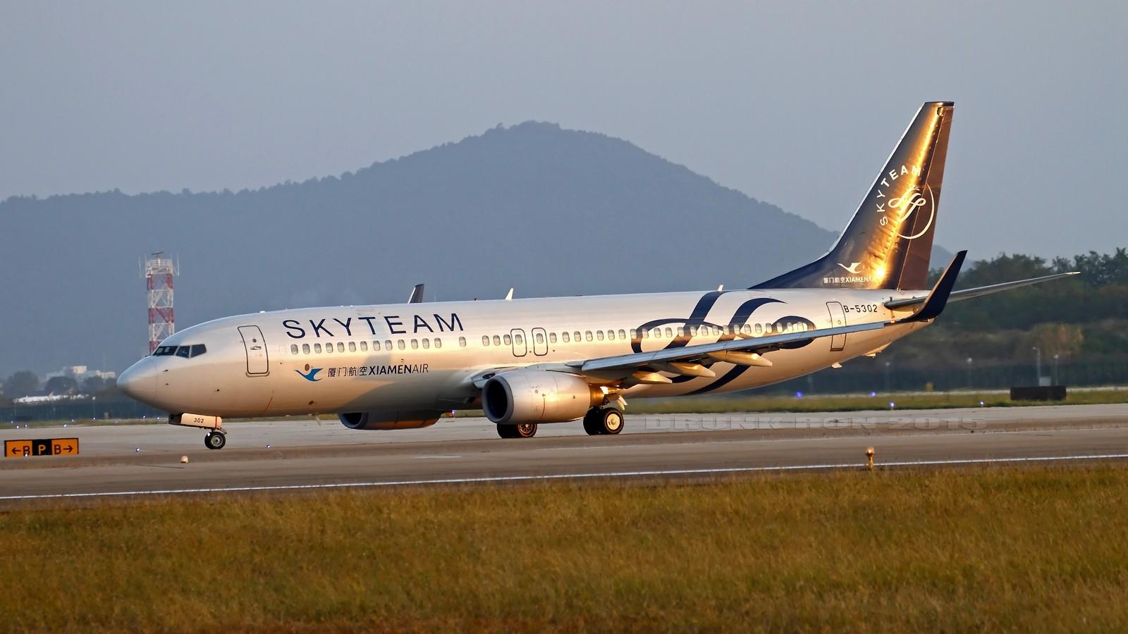 Re:[原创]NKG~好天气的NKG招牌角度 BOEING 737-800 B-5302 中国南京禄口国际机场