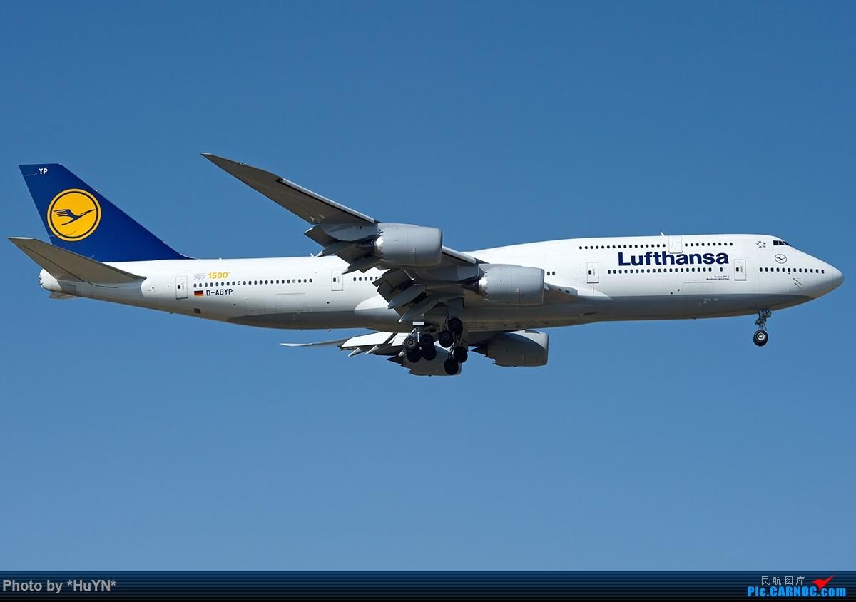 1500th BOEING 747-8I D-ABYP 中国北京首都国际机场