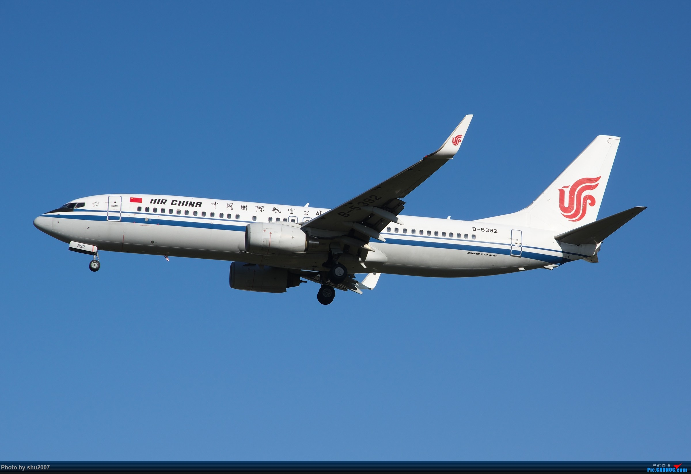 Re:[原创]雾霾过后难得的好天气 BOEING 737-800 B-5392 中国北京首都国际机场