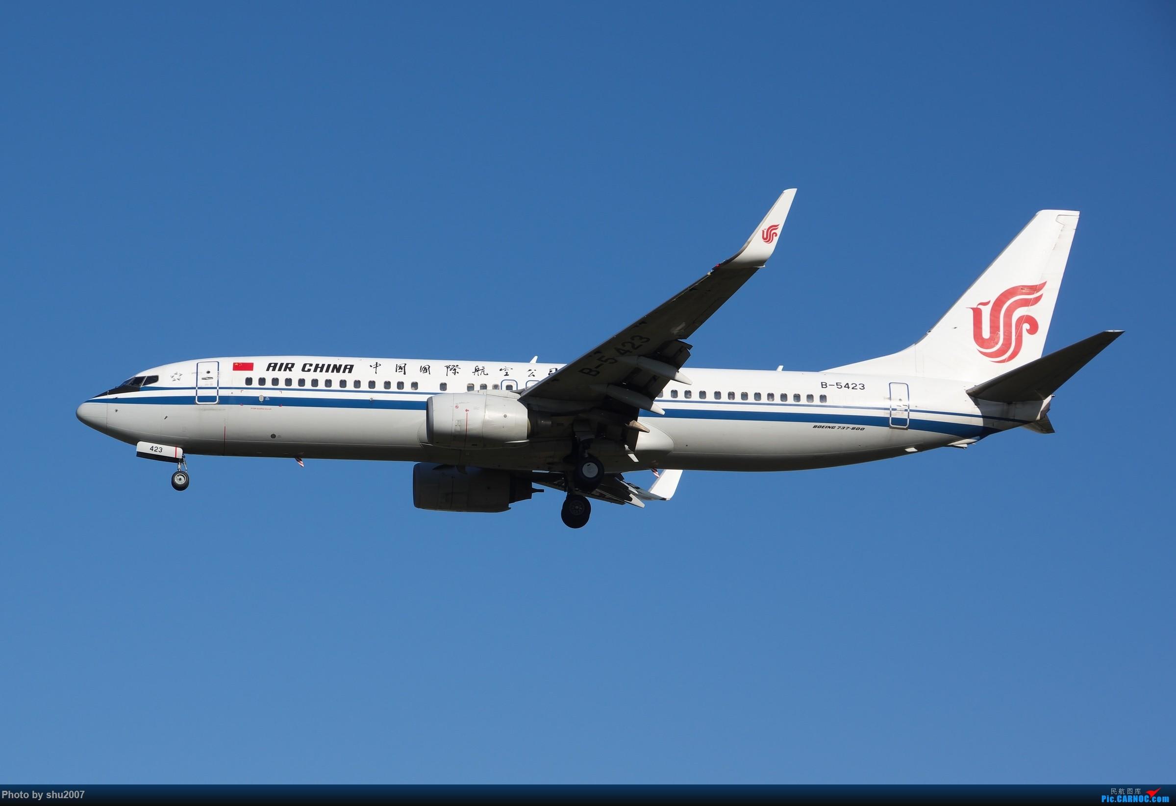 Re:[原创]雾霾过后难得的好天气 BOEING 737-800 B-5423 中国北京首都国际机场