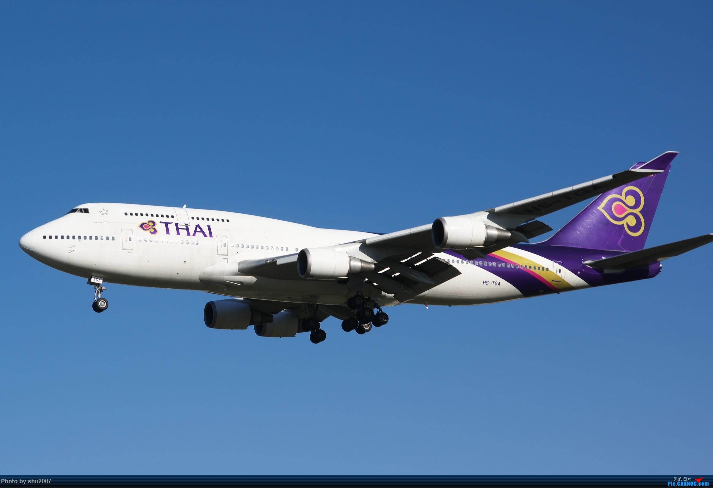 Re:[原创]雾霾过后难得的好天气 BOEING 747-400 HS-TGA 中国北京首都国际机场
