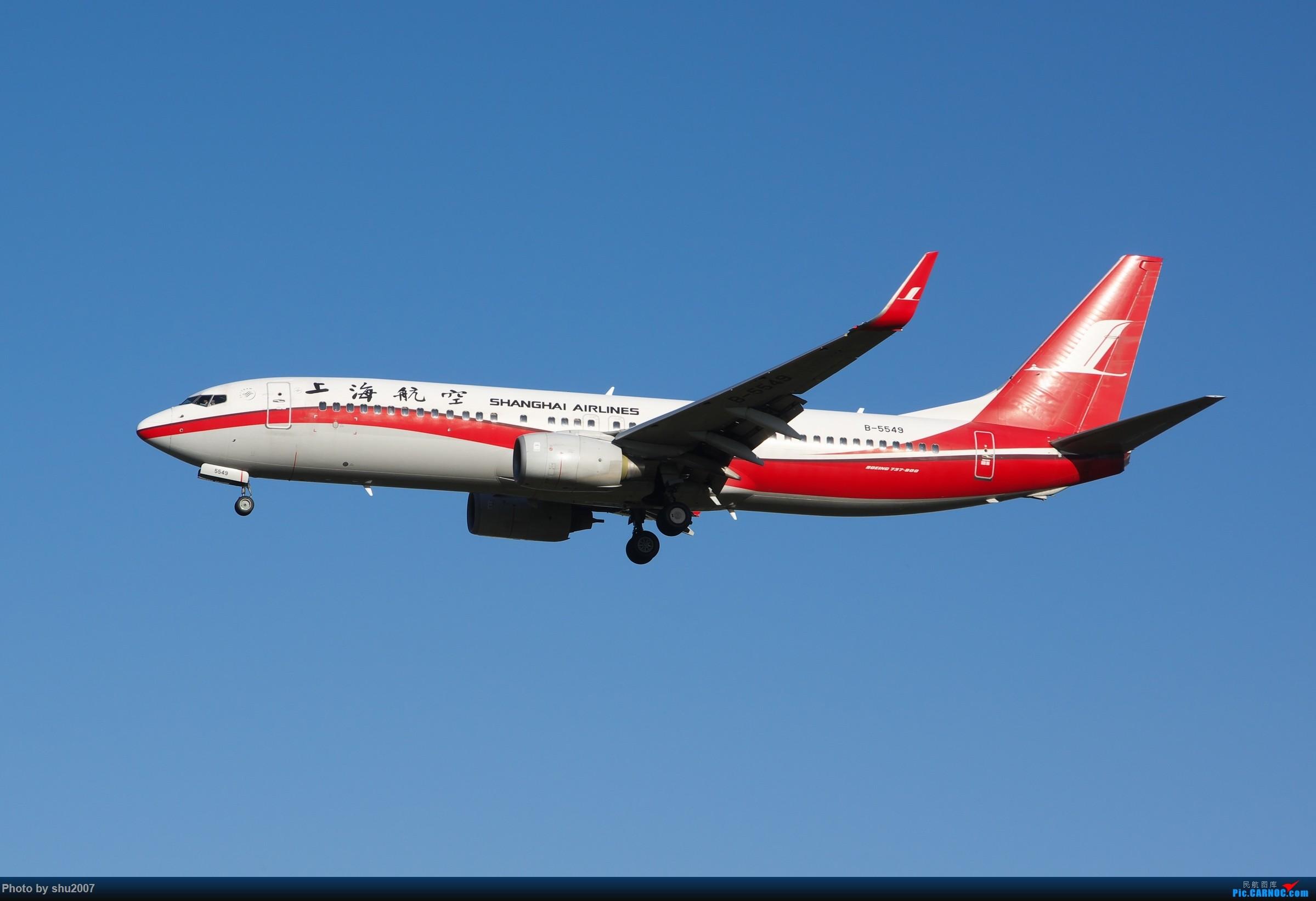 Re:[原创]雾霾过后难得的好天气 BOEING 737-800 B-5549 中国北京首都国际机场