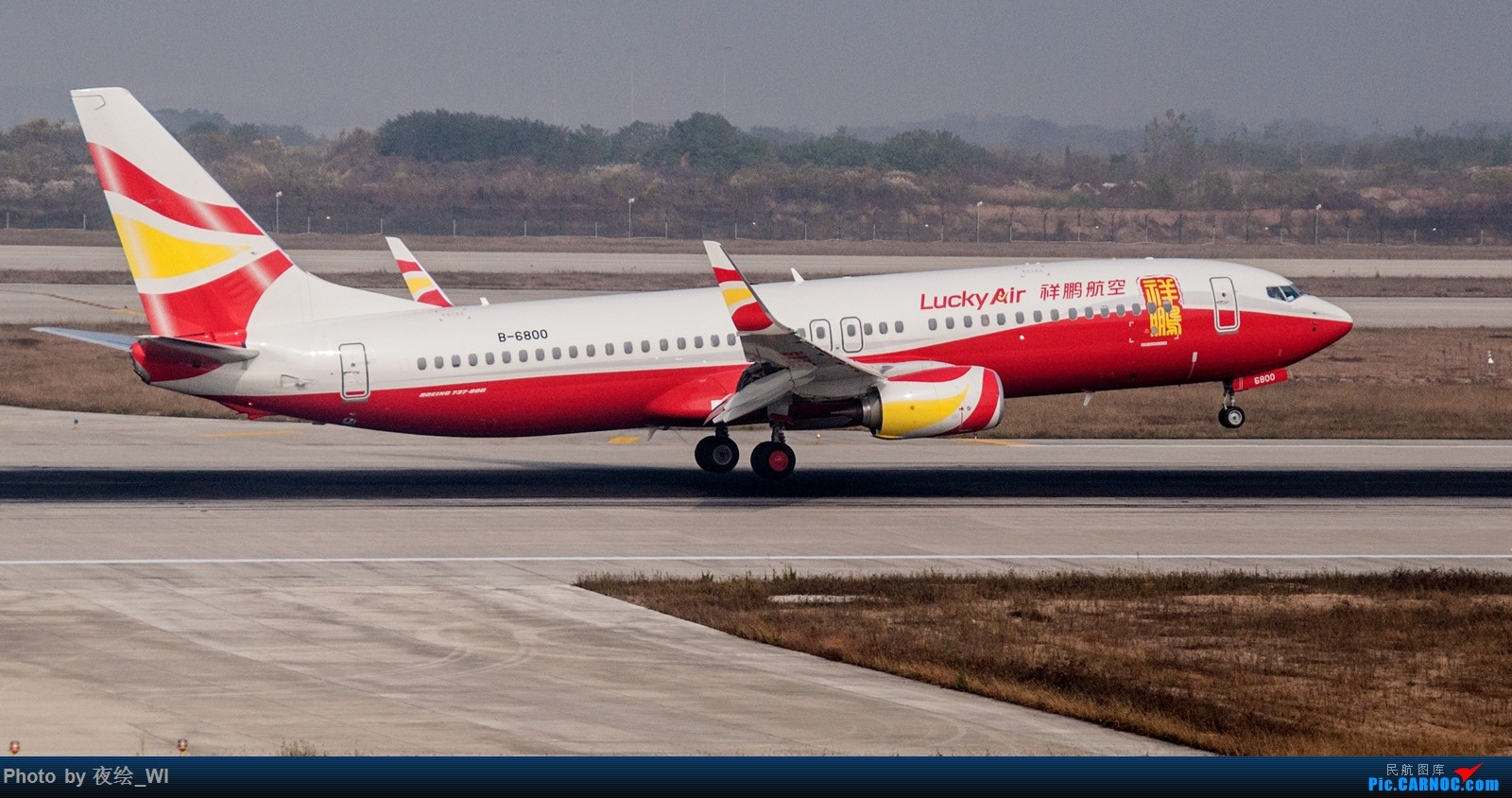 [原创]【NKG】生日第二天就去拍机,日常练手+练后期,今天是胶片味 BOEING 737-800 B-6800 中国南京禄口国际机场