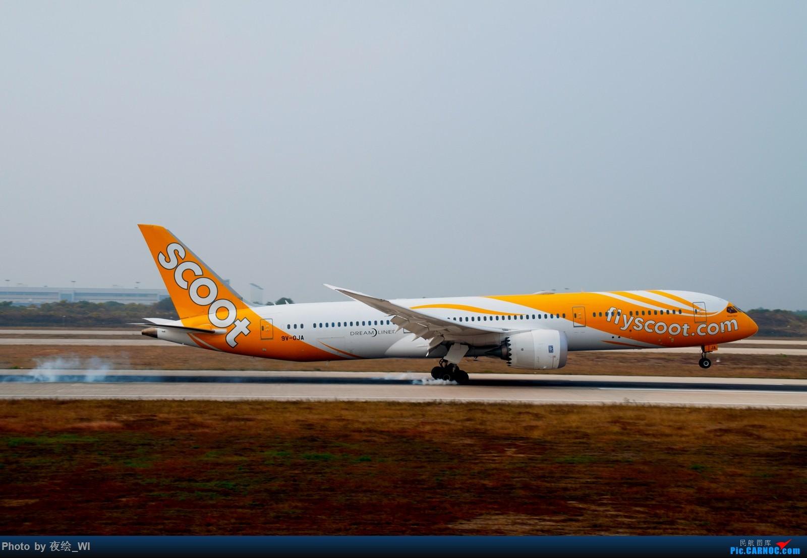 Re:[原创]【NKG】生日第二天就去拍机,日常练手+练后期,今天是胶片味 BOEING 787-9 9V-OJA 中国南京禄口国际机场