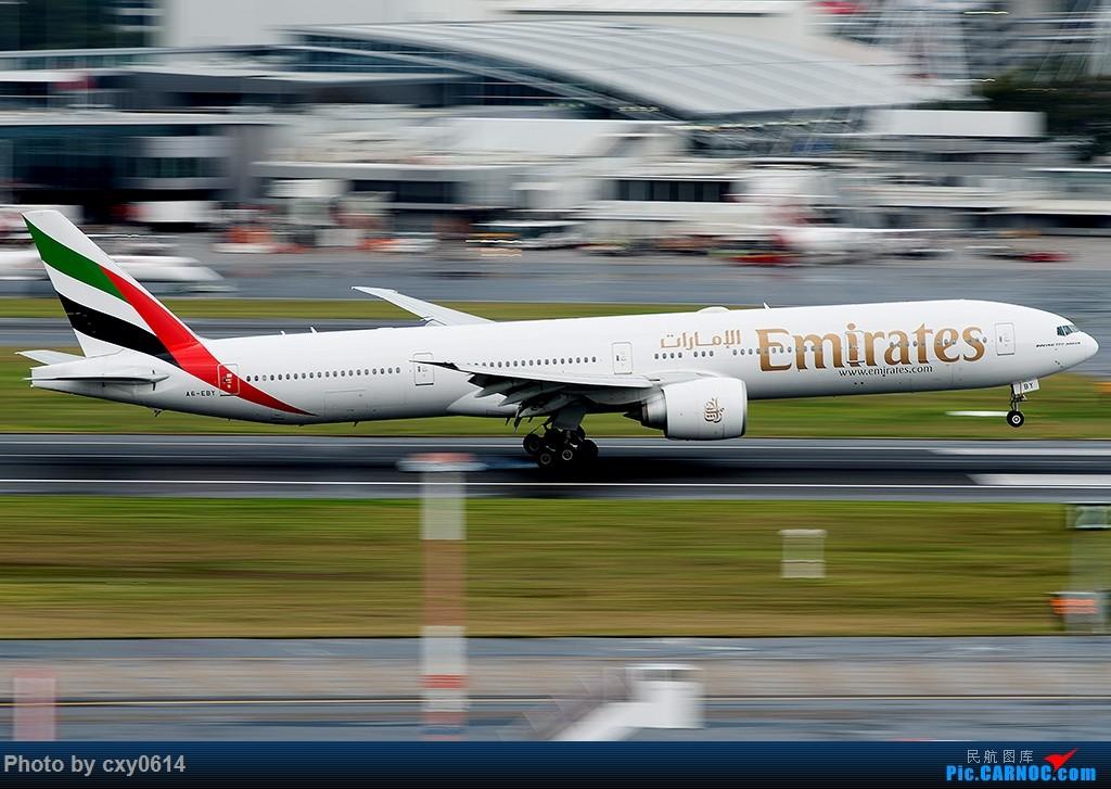 [原创]【多图】半年来SYD拍机 BOEING 777-300 A6-EBT 澳大利亚悉尼金斯福德·史密斯机场