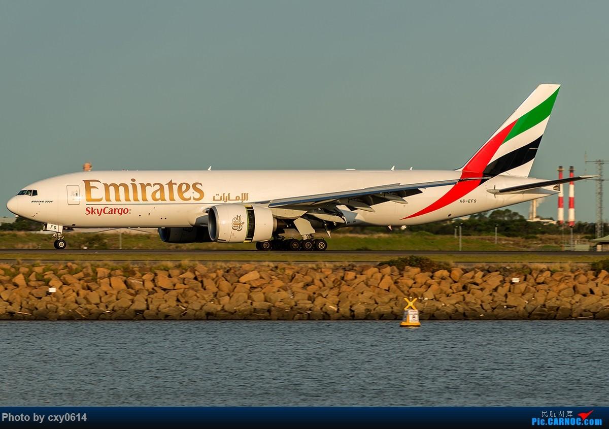 Re:[原创]【多图】半年来SYD拍机 BOEING 777F A6-EFS 澳大利亚悉尼金斯福德·史密斯机场