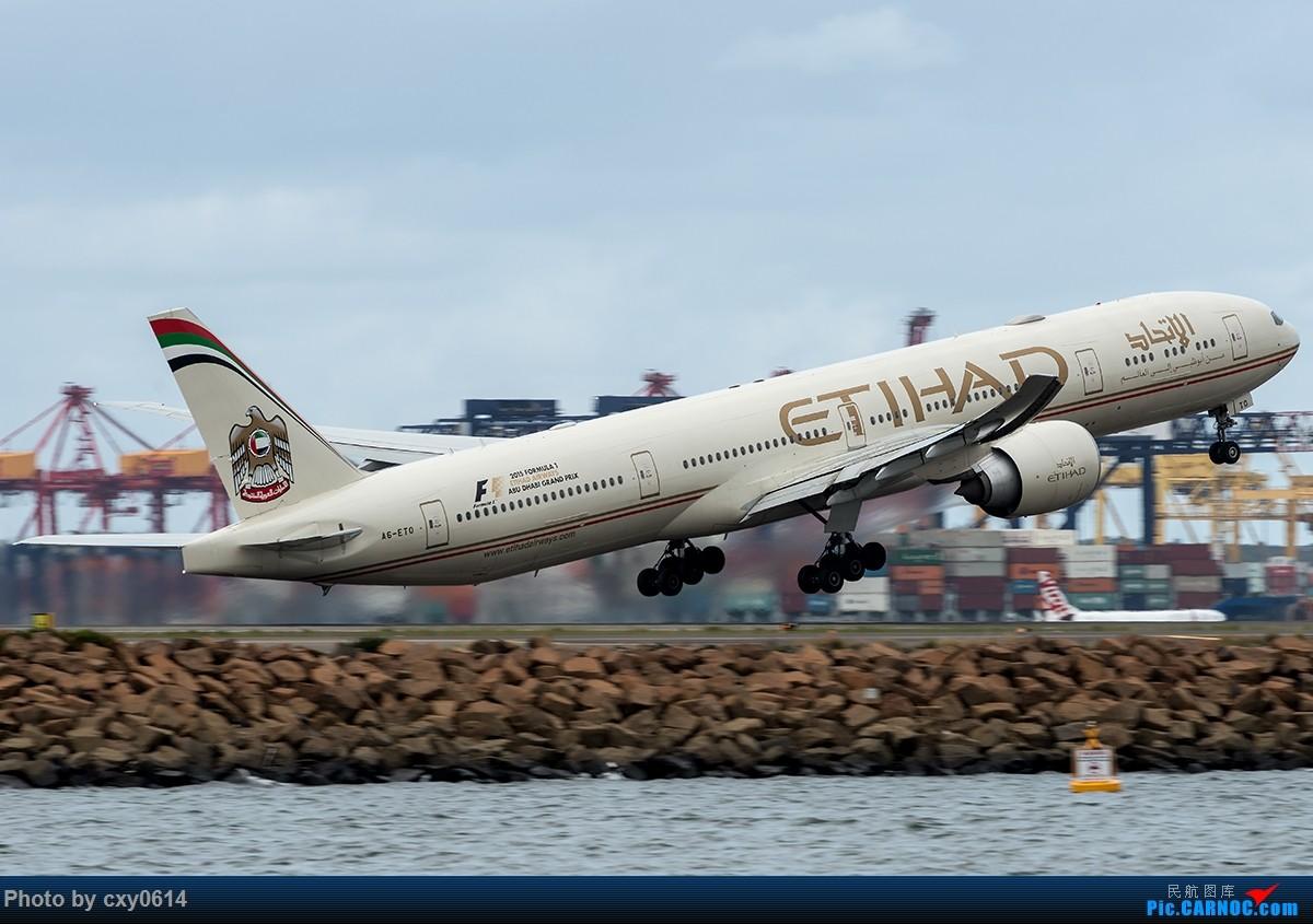 Re:[原创]【多图】半年来SYD拍机 BOEING 777-300 A6-ETO 澳大利亚悉尼金斯福德·史密斯机场