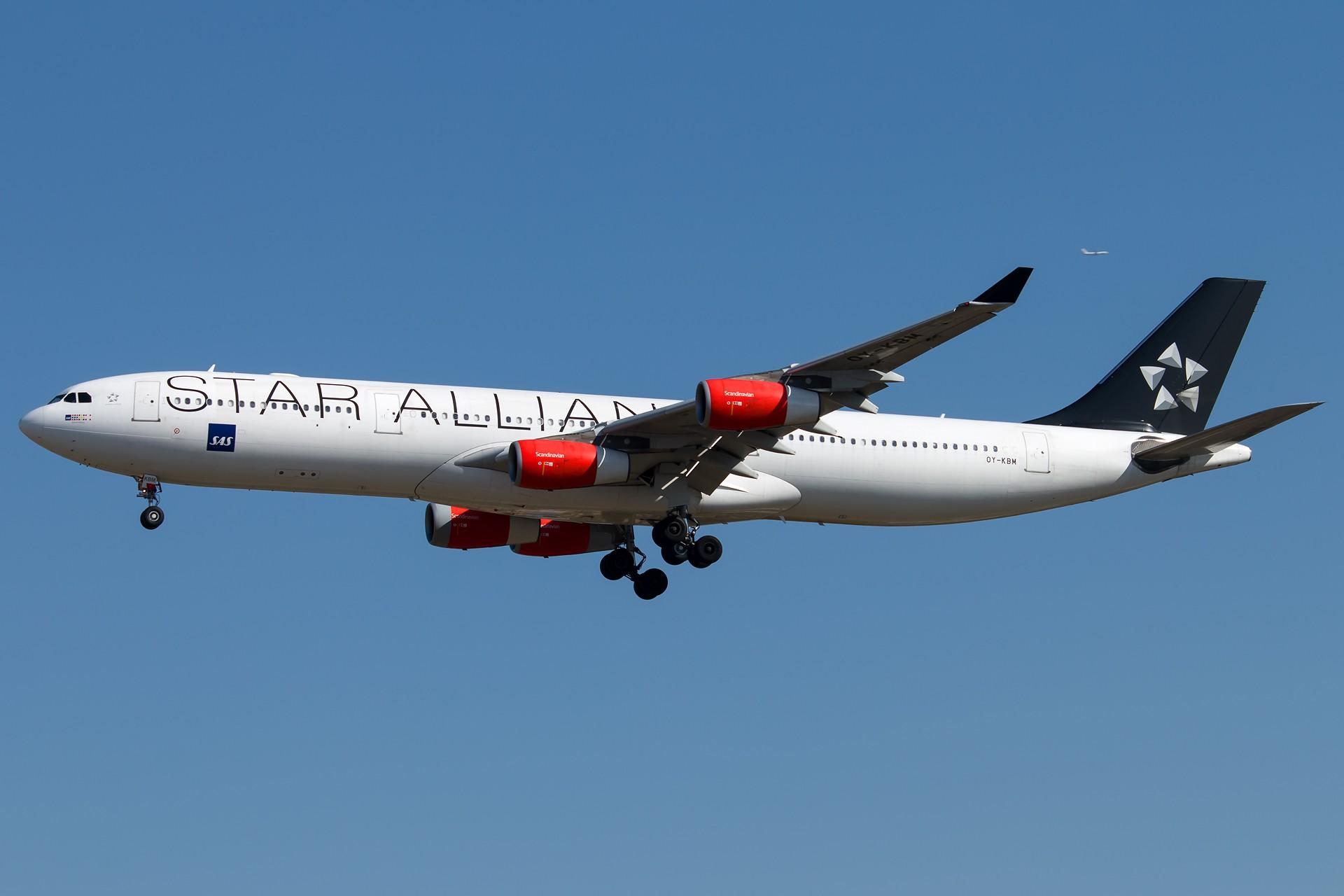 Re:再来两架A343 1920*1280 AIRBUS A340-313X OY-KBM 中国北京首都国际机场