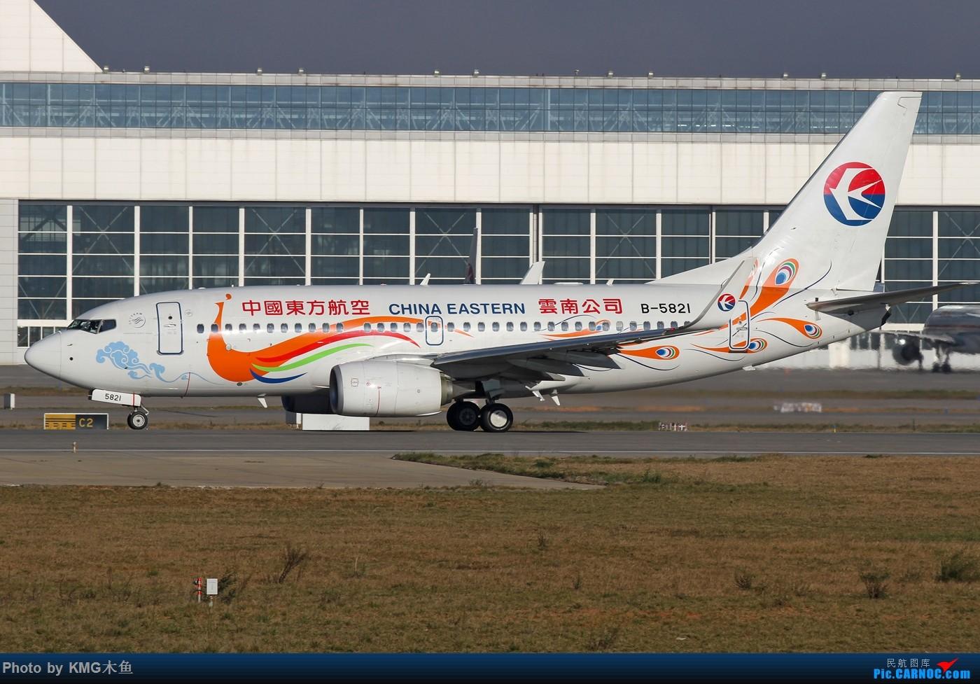 Re:[原创]【KMG昆明长水国际机场】好天气,拍到了好灰机,愉快的一天 BOEING 737-700 B-5821 中国昆明长水国际机场