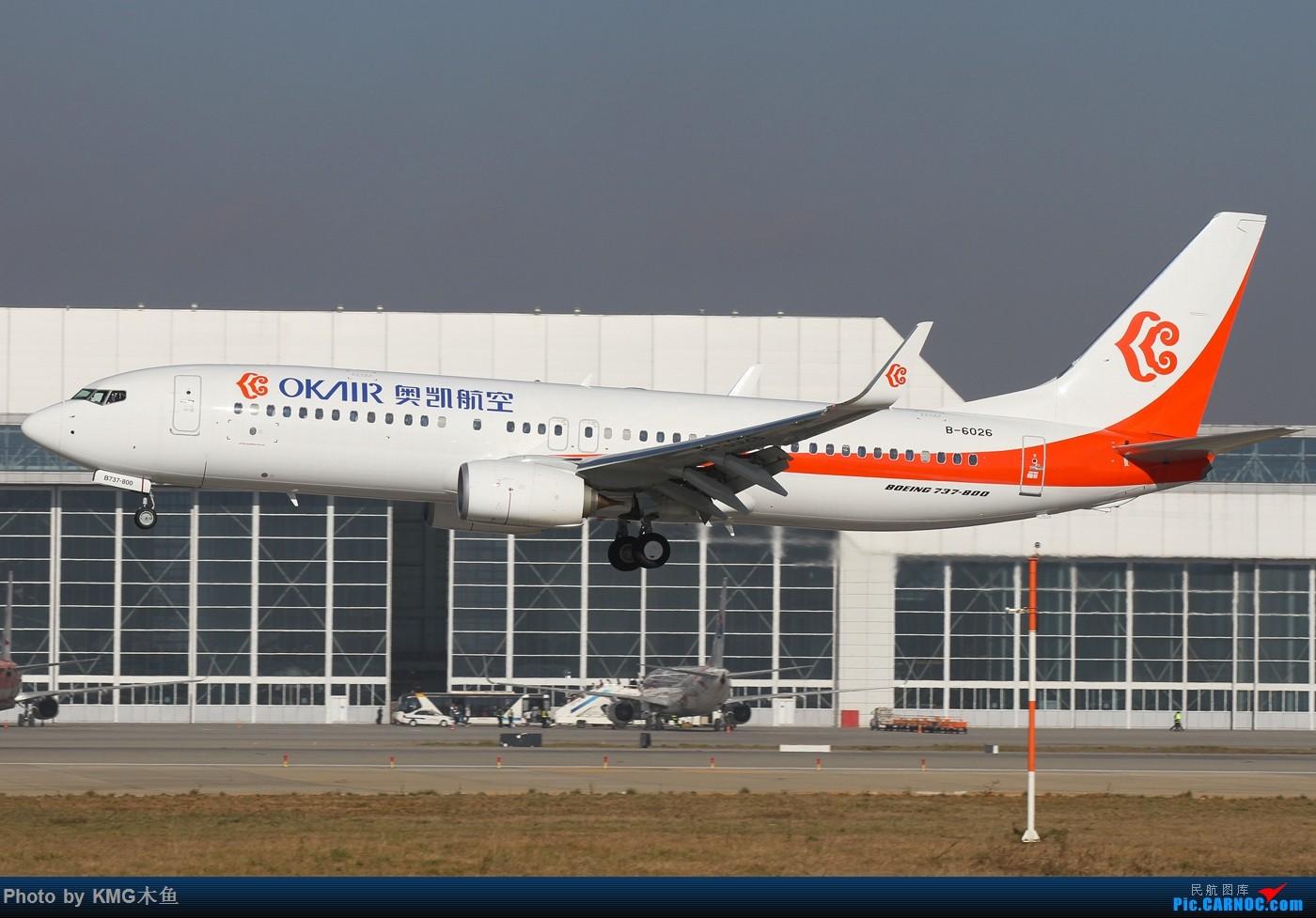 Re:[原创]【KMG昆明长水国际机场】好天气,拍到了好灰机,愉快的一天 BOEING 737-800 B-6026 中国昆明长水国际机场