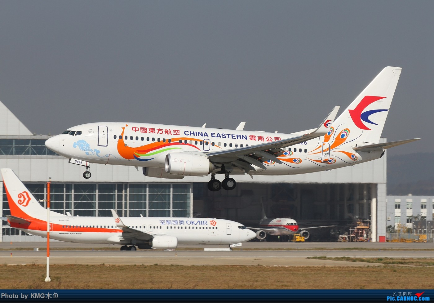 Re:[原创]【KMG昆明长水国际机场】好天气,拍到了好灰机,愉快的一天 BOEING 737-700 B-5828 中国昆明长水国际机场