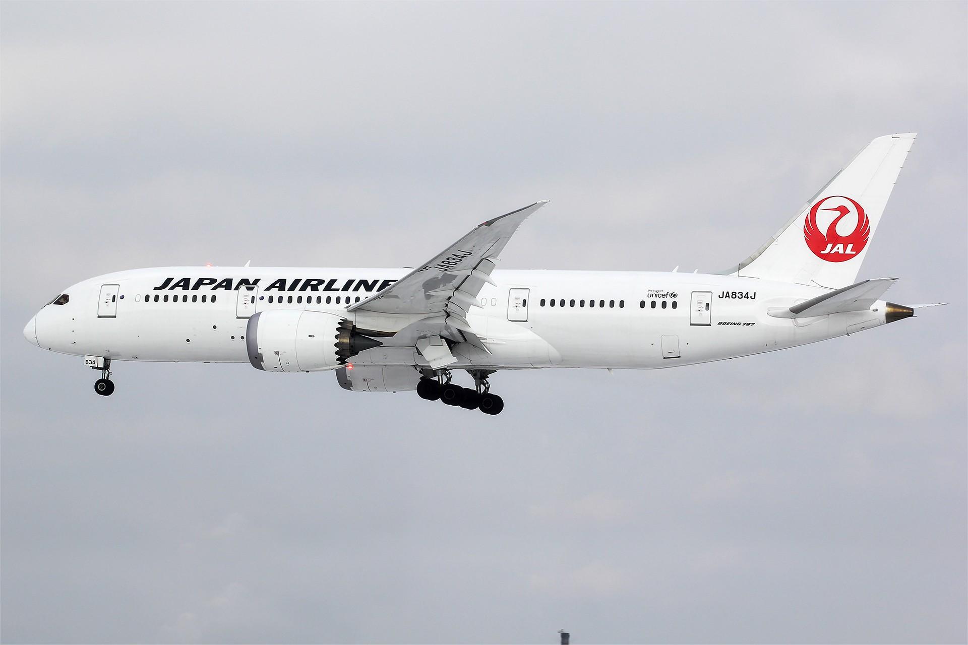 Re:[原创][DLC]。。。醉美日本。。。 BOEING 787-8 JA834J 中国大连国际机场