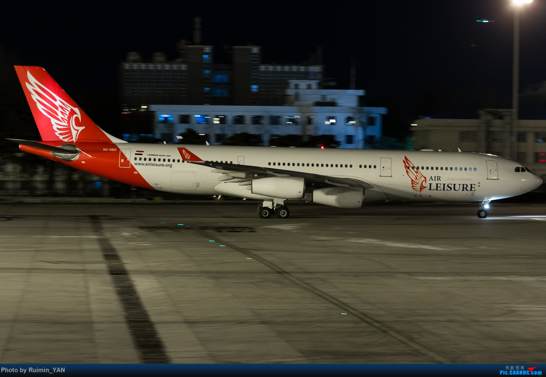 [原创]【PEK飞友会】晴天版:大晚点的埃及休闲342 AIRBUS A340-200 SU-GBO 中国北京首都国际机场