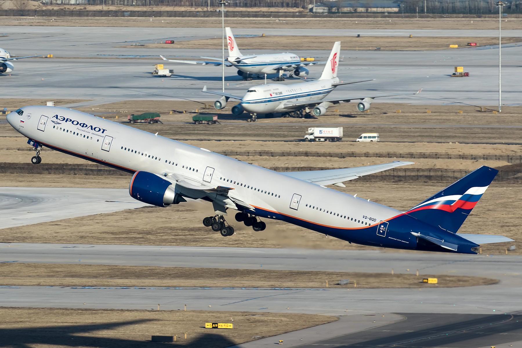 Re:[原创]**两图党**雾霾前的一拍,荷航新装+延误的俄航 BOEING 777-300ER VQ-BQD 中国北京首都国际机场