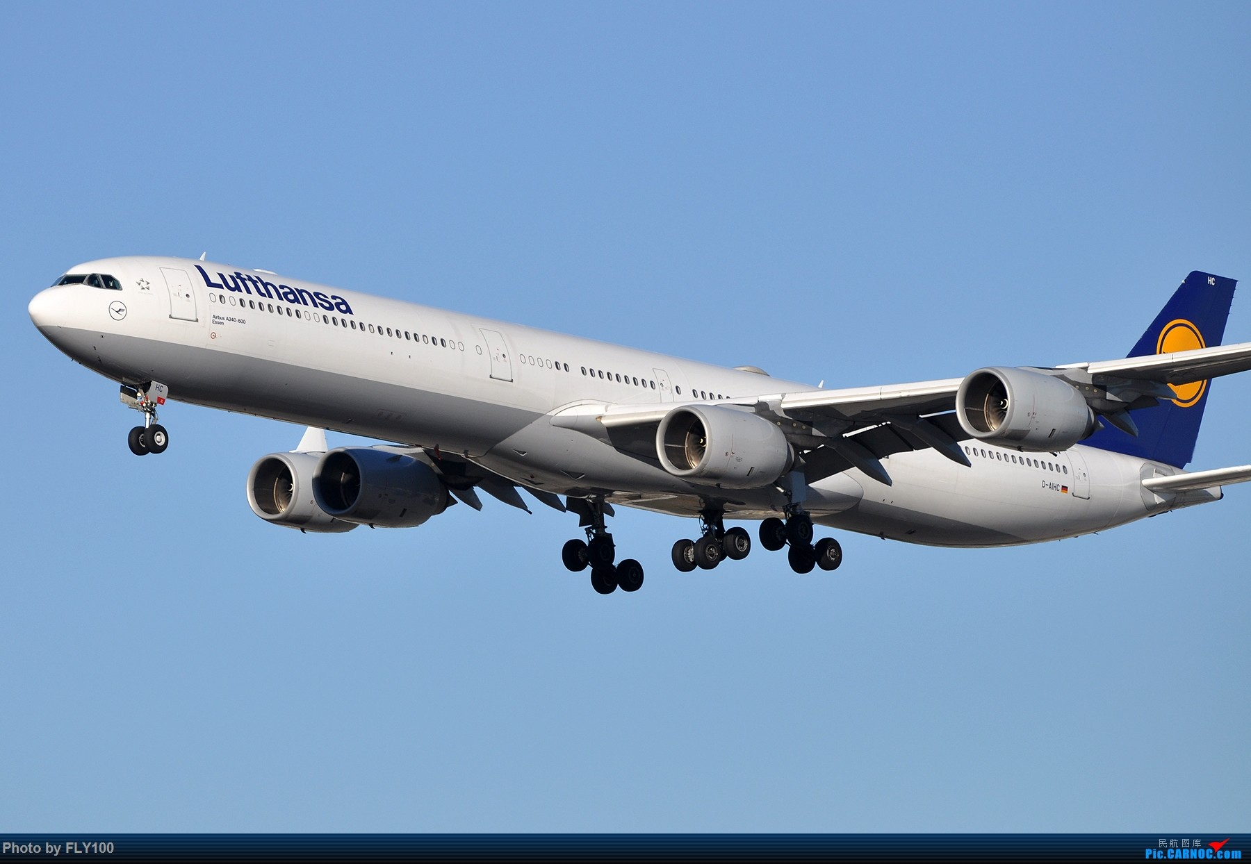 [原创]【LAX】两张AIRBUS A340-600的大图,汉莎航空和维珍大西洋航空 AIRBUS A340-600 D-AIHC 美国洛杉矶机场