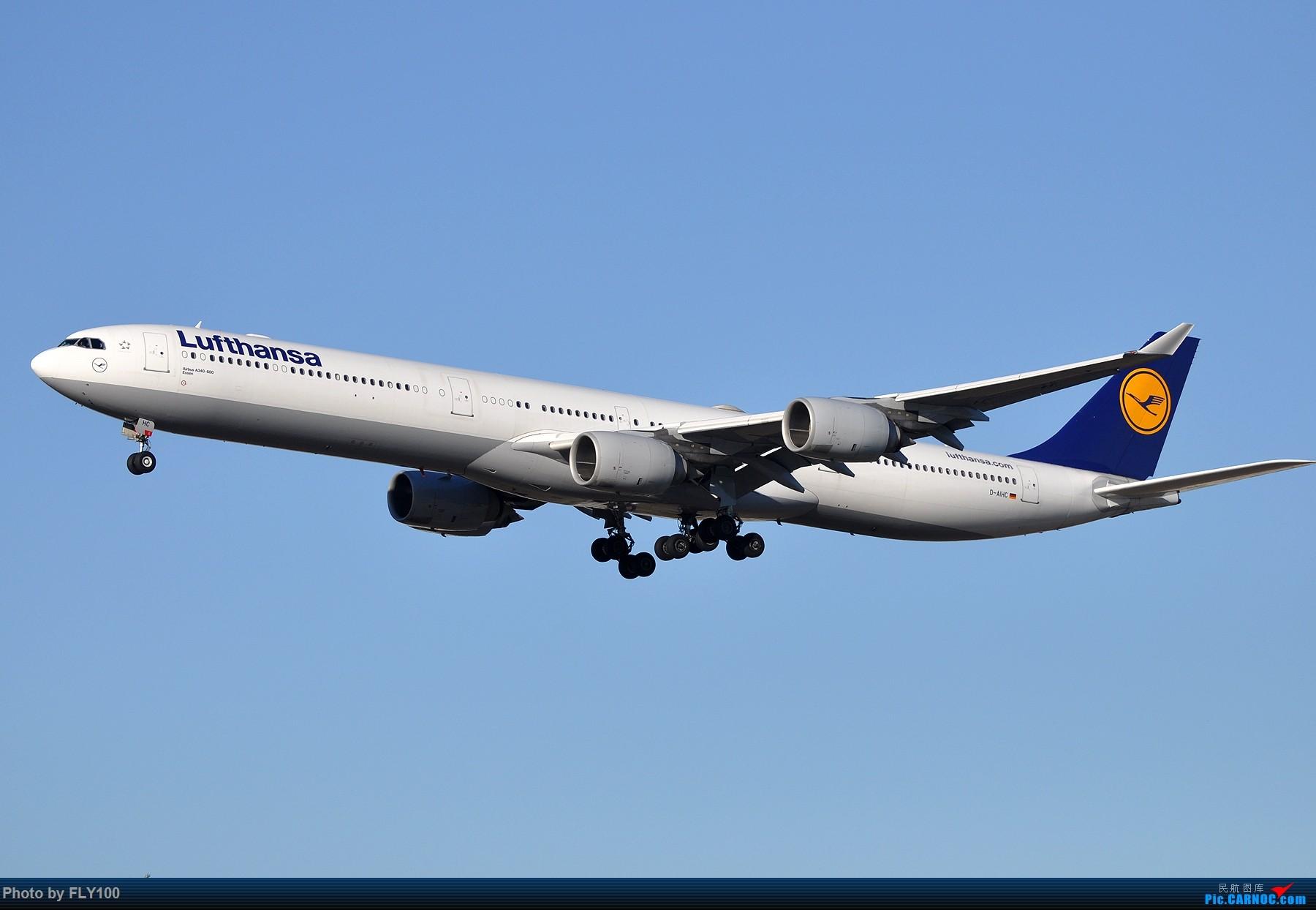 Re:[原创]【LAX】两张AIRBUS A340-600的大图,汉莎航空和维珍大西洋航空 AIRBUS A340-600 D-AIHC 美国洛杉矶机场