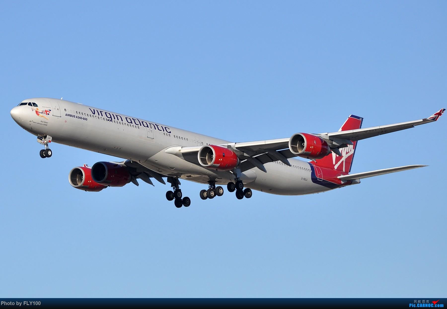 Re:[原创]【LAX】两张AIRBUS A340-600的大图,汉莎航空和维珍大西洋航空 AIRBUS A340-600 G-VBLU 美国洛杉矶机场