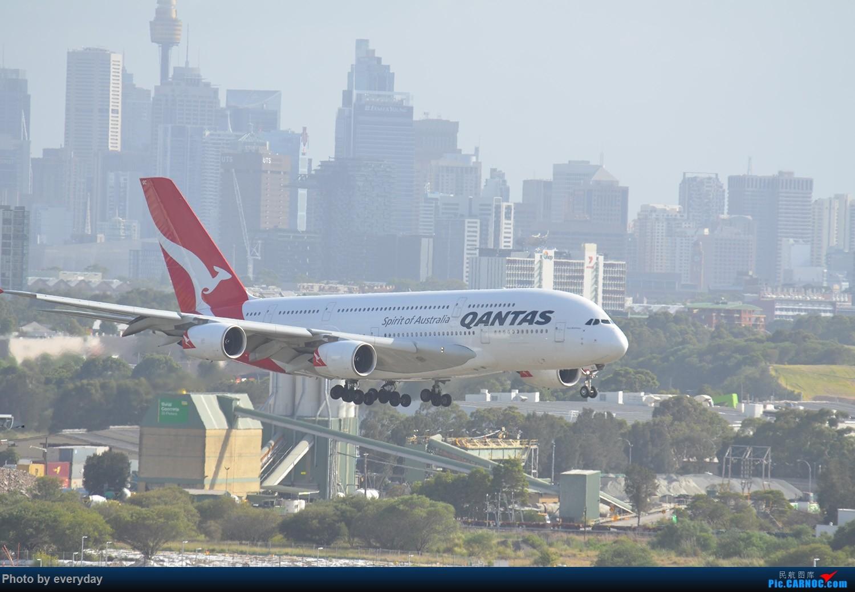 [原创]迎接ANA R2D2 首航悉尼闲暇拍机一小时 A380 VH-OQC 澳大利亚悉尼金斯福德·史密斯机场