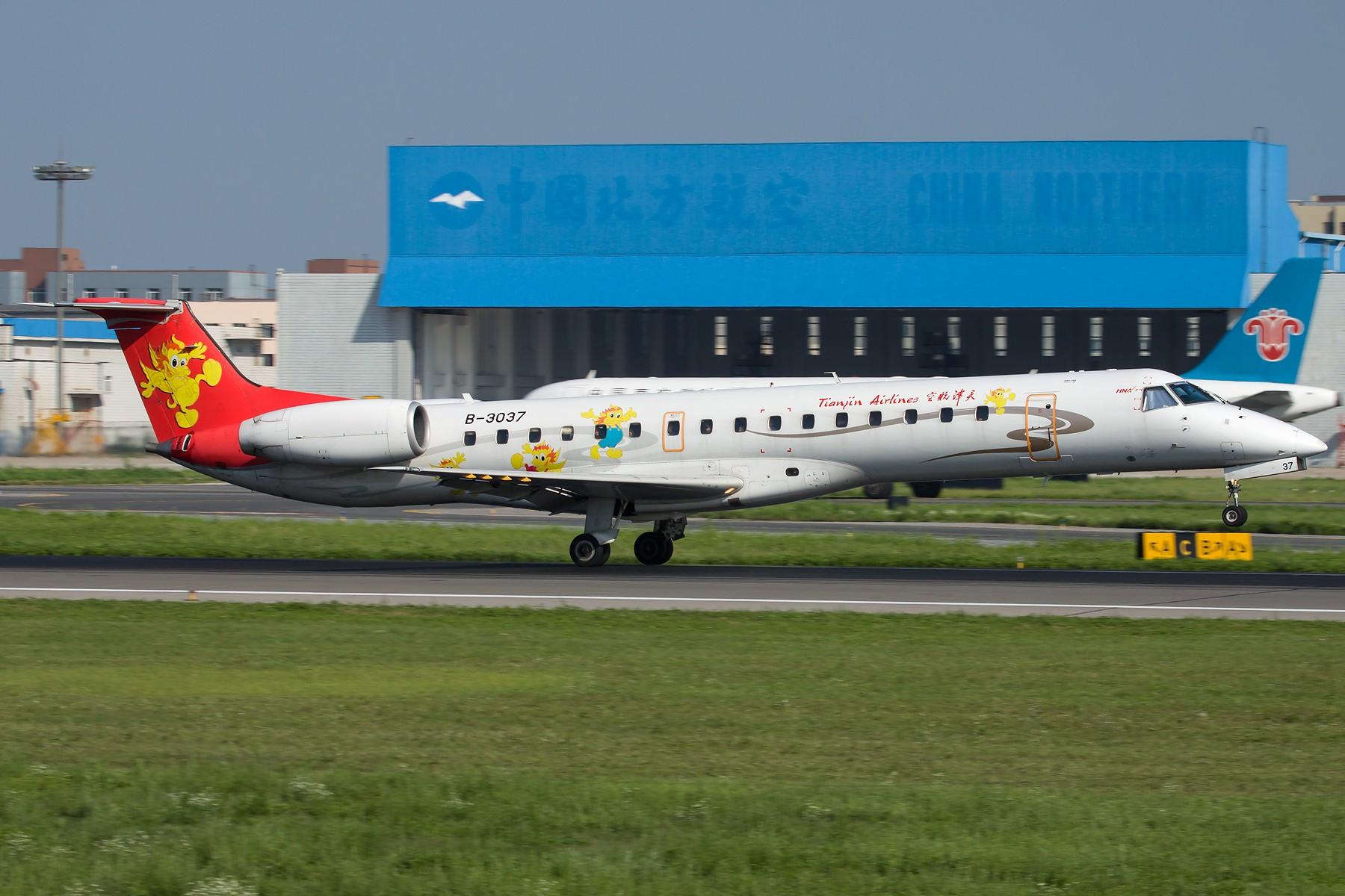 Re:[原创]3036 & 3037 1800*1200 EMBRAER ERJ-145 B-3037 中国沈阳桃仙国际机场