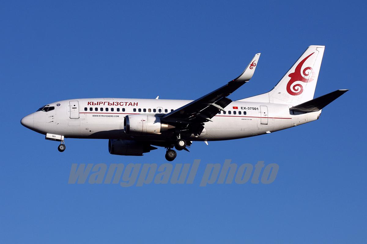 新鲜出炉!发个身份证照刷个存在感.吉尔吉斯斯坦737-500 BOEING 737-59D EX-37501 北京首都国际机场