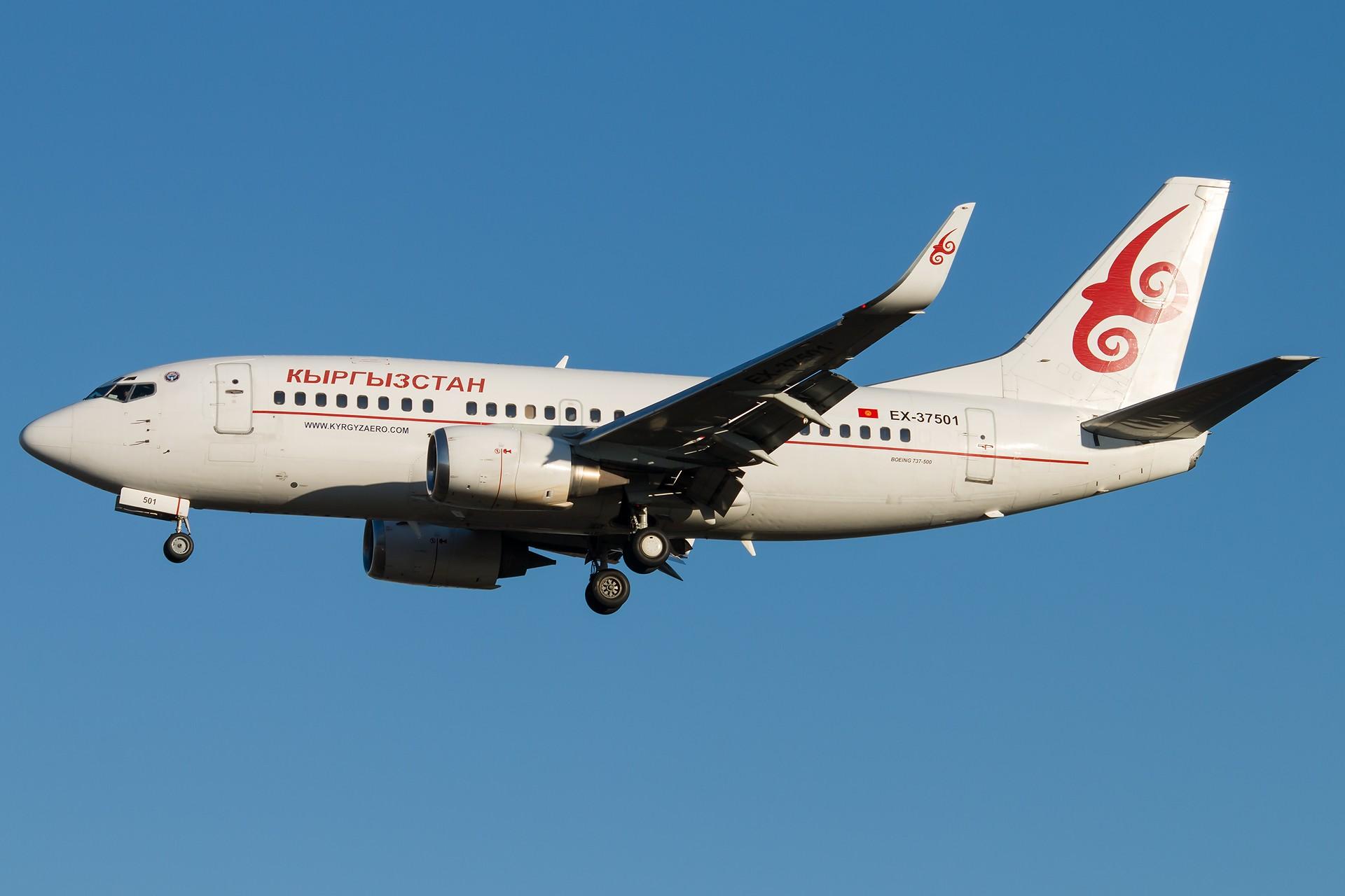 [原创][一图党] 吉尔吉斯斯坦 B737-500WL 1920*1280 BOEING 737-59D(WL) EX-37501 ZBAA/PEK