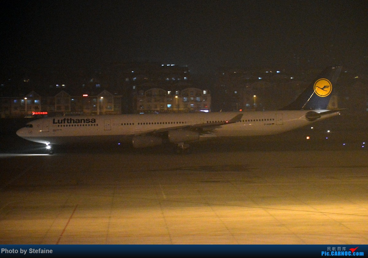 Re:[原创][DLC]最近周水子晚上挺热闹 图渣 AIRBUS A340-300 D-AIGM 中国大连国际机场