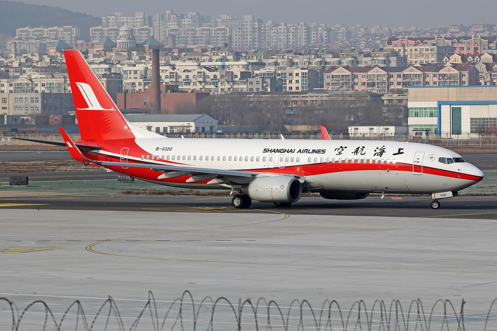 [原创][DLC]。。。无标题,杂图。。。 BOEING 737-800 B-5320 中国大连国际机场