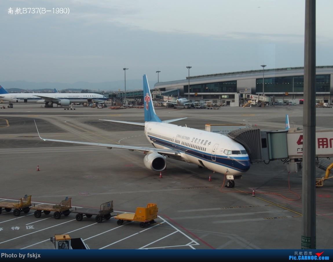 【fskjx的飞行游记☆23】天府之国·成都 BOEING 737-800 B-1980 中国广州白云国际机场