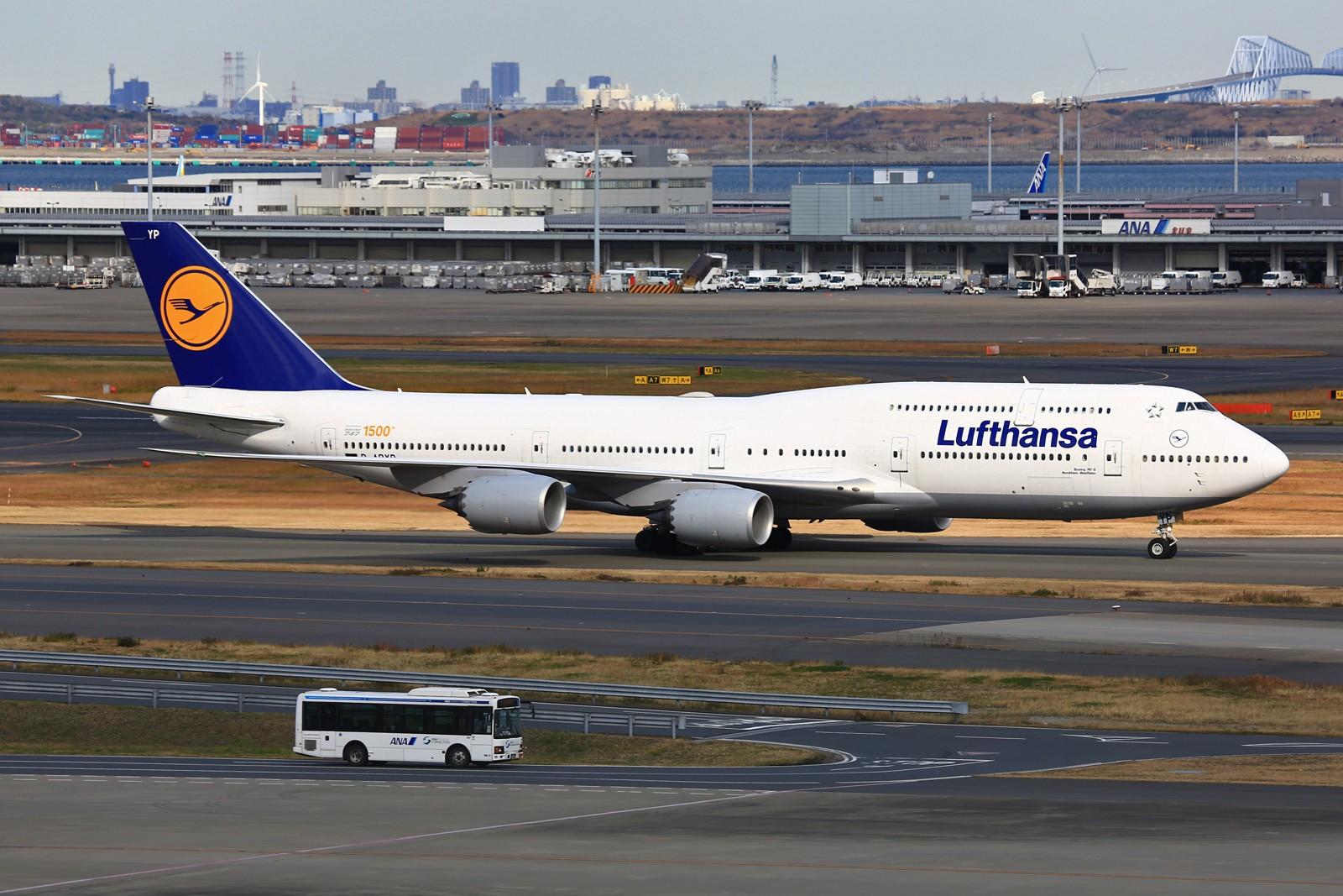 Re:[原创]【HND】******2016新年好,流窜羽田机场:全日空星战,汉莎1500th,以及一些大路货****** BOEING 747-8 D-ABYP 日本东京羽田国际机场