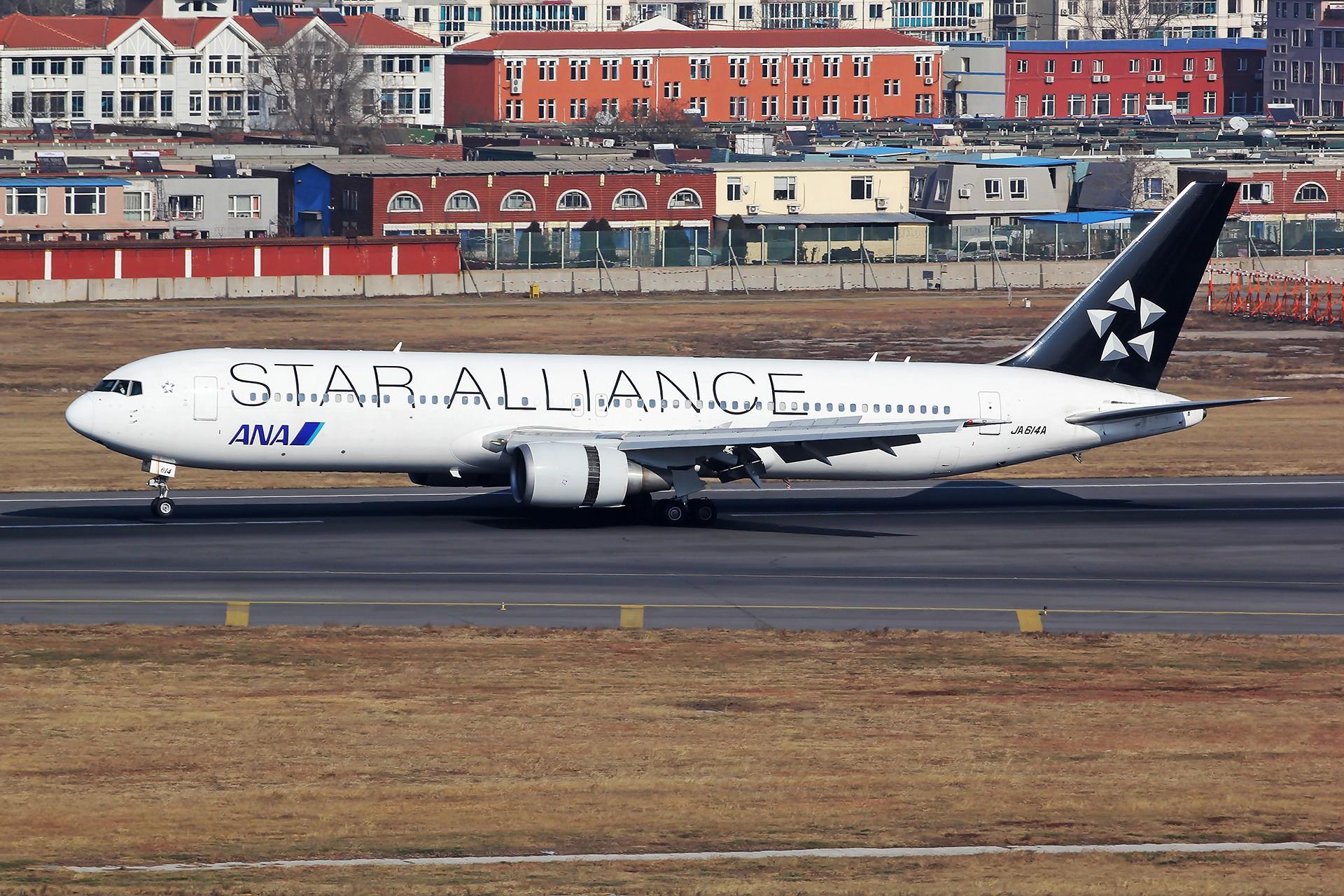 [原创][DLC]。。。省略号吧,无标题。。。 BOEING 767-300ER JA614A 中国大连国际机场