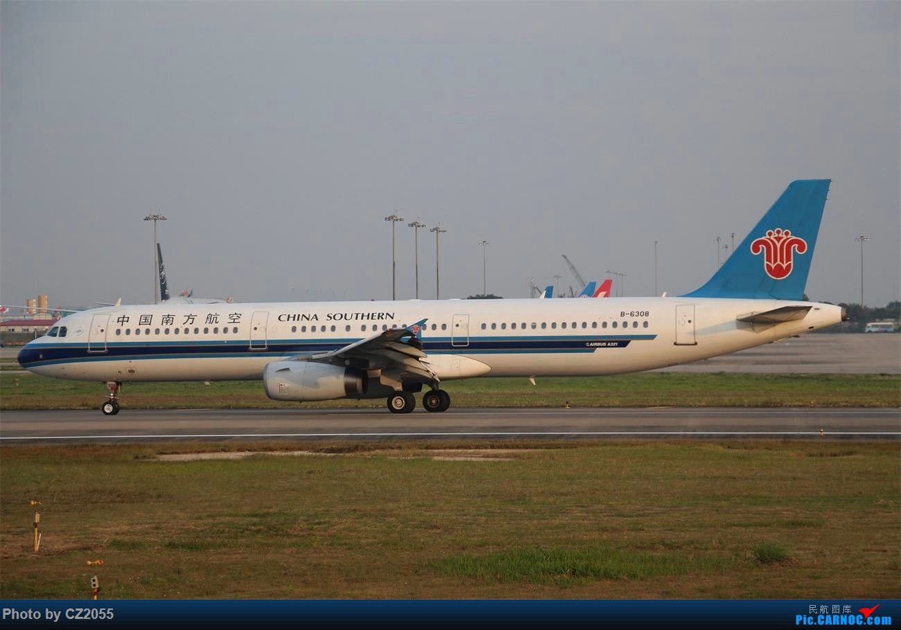 Re:[原创]Re:[原创]【广东青少年拍机小队】【C-Z-2055】2016第一拍,元旦快乐! AIRBUS A321-200 B-6308 中国广州白云国际机场
