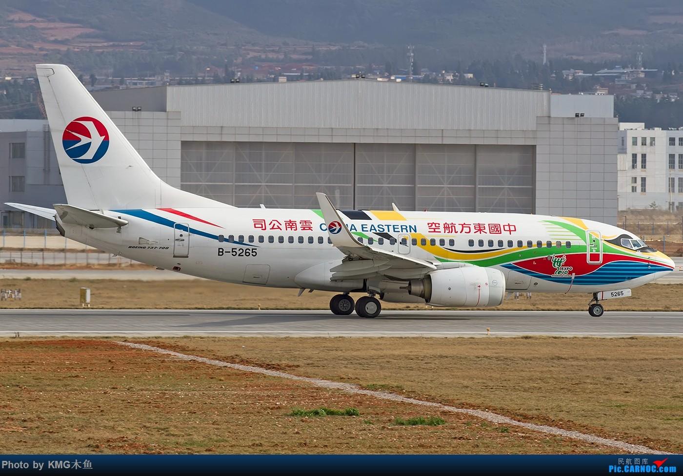 Re:[原创]【KMG】【昆明飞友会-KMG木鱼】2016年一月的周末从白天拍到天黑,临走时还来了一架波音777 BOEING 737-700 B-5265 中国昆明长水国际机场