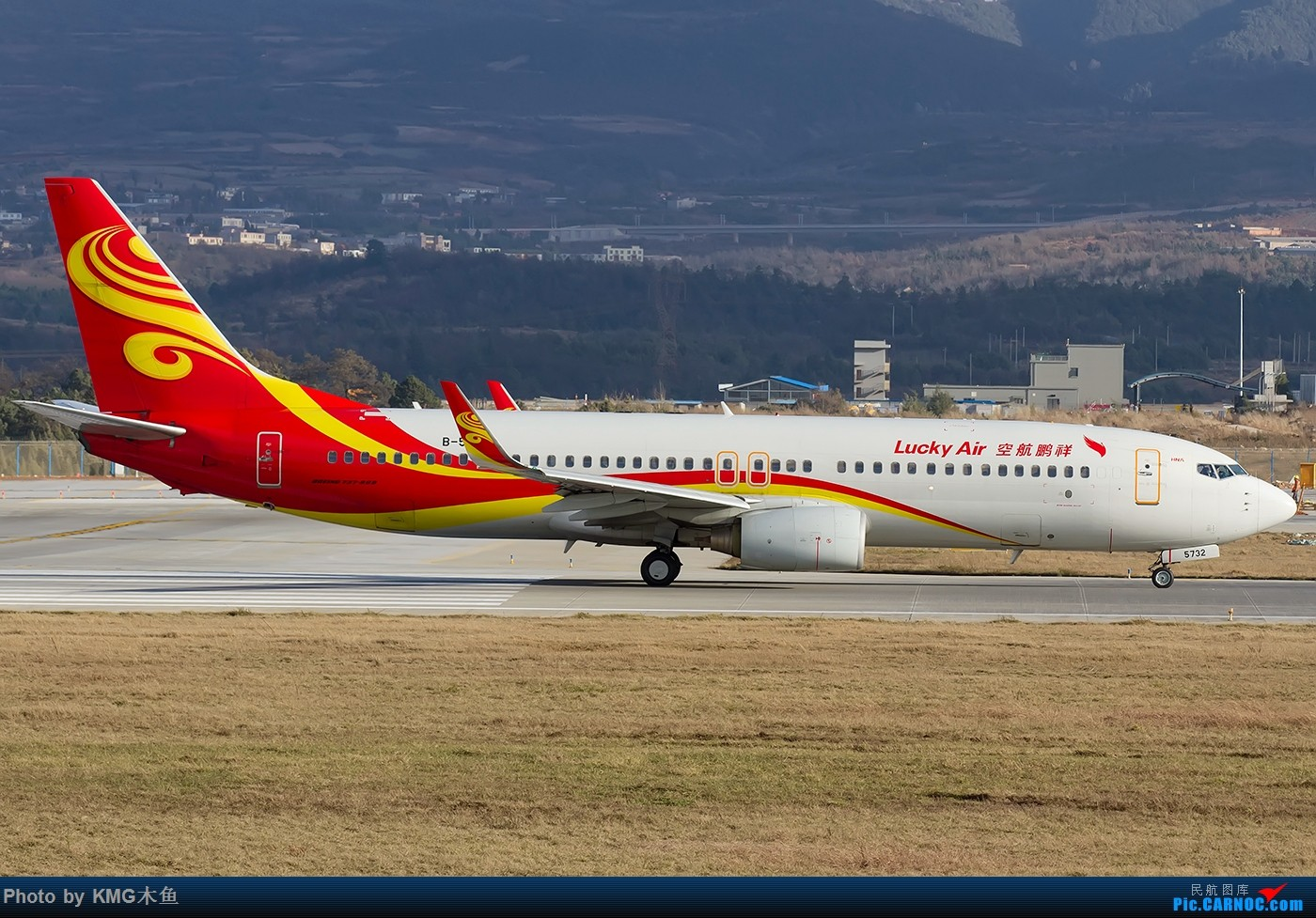 Re:[原创]【KMG】【昆明飞友会-KMG木鱼】2016年一月的周末从白天拍到天黑,临走时还来了一架波音777 BOEING 737-800 B-5732 中国昆明长水国际机场