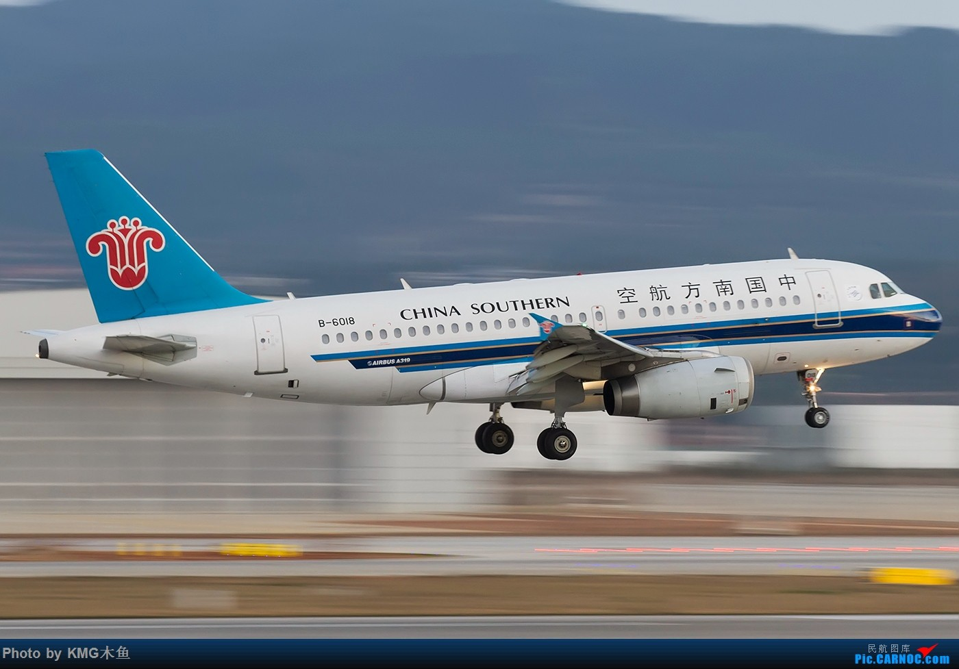 Re:[原创]【KMG】【昆明飞友会-KMG木鱼】2016年一月的周末从白天拍到天黑,临走时还来了一架波音777 AIRBUS A319-100 B-6018 中国昆明长水国际机场