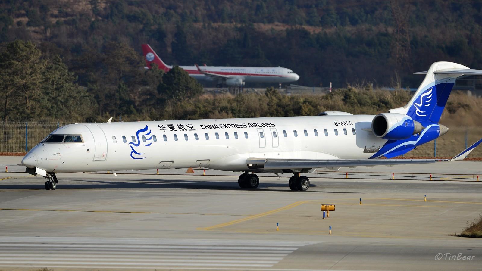 [原创]与CRJ900NextGen在长水相遇,Hello Bombardier BOMBARDIER CRJ900NG B-3363 中国昆明长水国际机场