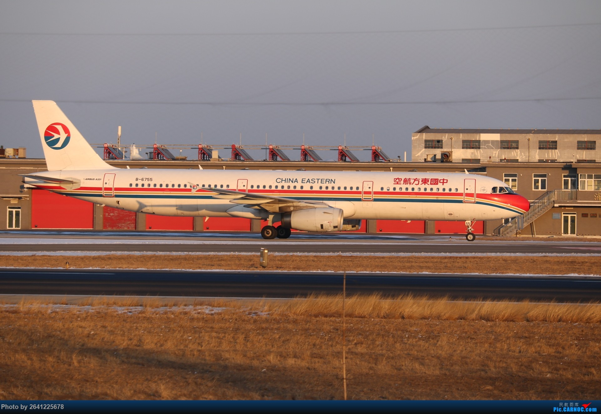 [原创]pek寒风下的守候 AIRBUS A321-200 B-6755 中国北京首都国际机场
