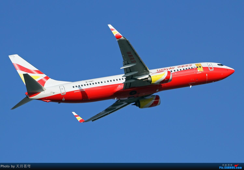 [原创]【KMG】许久没有发帖,这是不对滴~~~ BOEING 737-800 B-7167 中国昆明长水国际机场