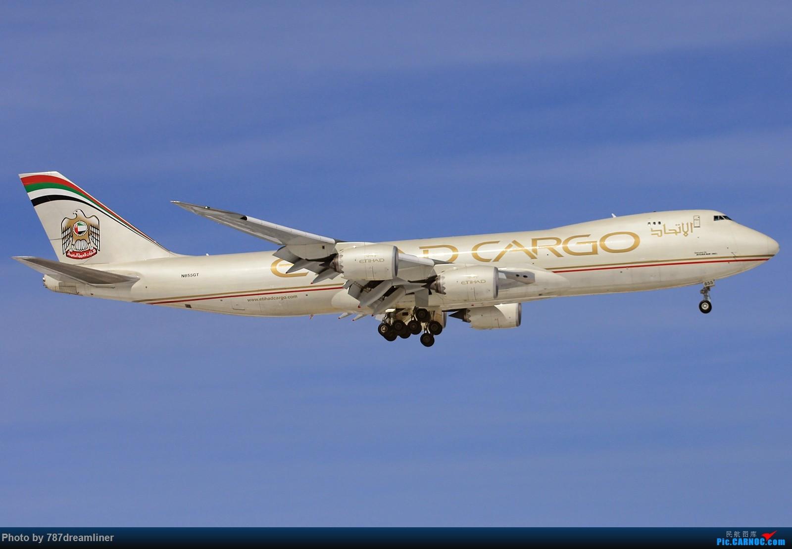 Re:【北美飞友会-ORD】土豪国的土豪金—伊蒂哈德Cargo Boeing 747-87UF N855GT 芝加哥跑道10降落 BOEING 747-8F N855GT 美国芝加哥奥黑尔国际机场