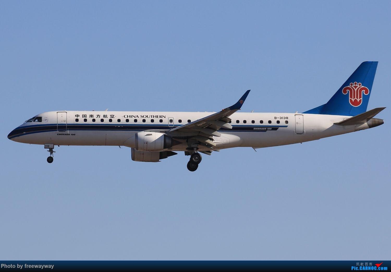 Re:[原创]蓝天做背景,感觉画面统一多了 EMBRAER E-190 B-3138 中国天津滨海国际机场
