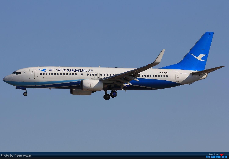 Re:[原创]蓝天做背景,感觉画面统一多了 BOEING 737-800 B-5389 中国天津滨海国际机场