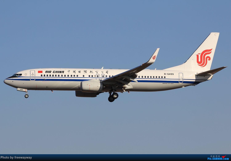 Re:[原创]蓝天做背景,感觉画面统一多了 BOEING 737-800 B-6499 中国天津滨海国际机场