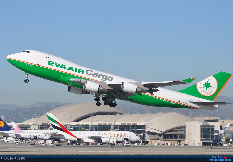 [原创]【北美飞友会】#LAX货机系列# EVA AIR 长荣航空 B747-400F BOEING 747-45EF B-16483 美国洛杉矶机场