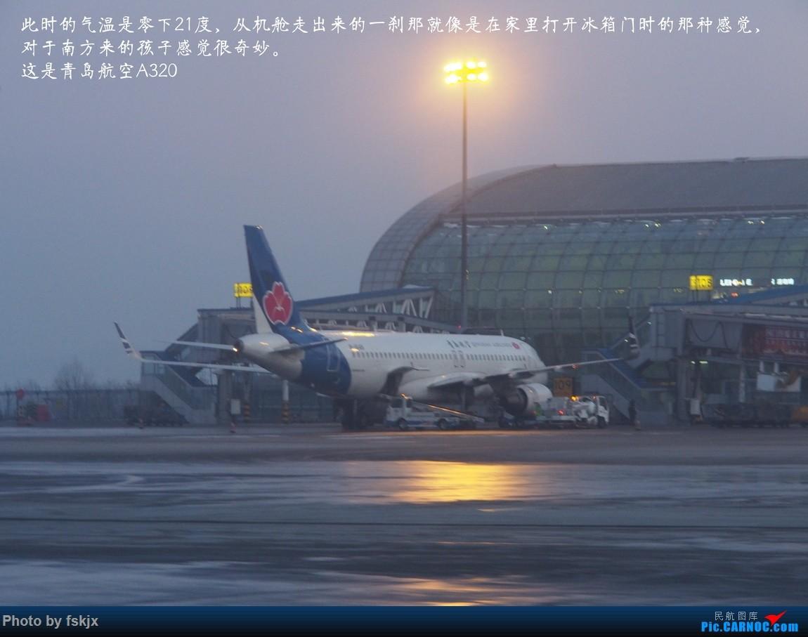 【fskjx的飞行游记☆24】冰雪天地·长春 AIRBUS A320-200  中国长春龙嘉国际机场