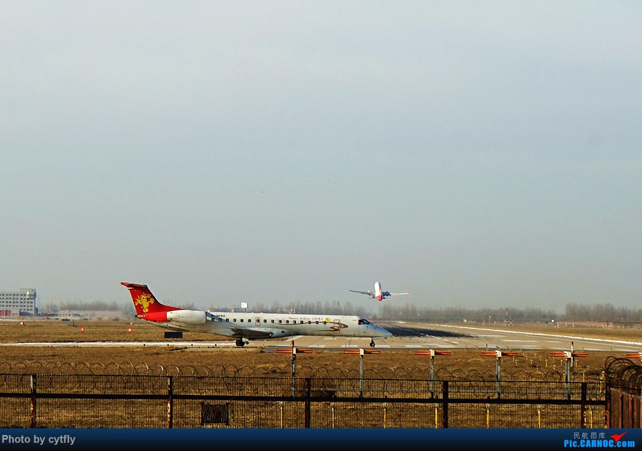 Re:[原创]2016第一拍---大风中的石家庄机场随手拍 EMBRAER ERJ-145 B-3093 中国石家庄正定国际机场